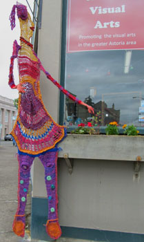 Bonnie Meltzer crocheted sculpture