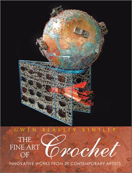 Bonnie Meltzer Book cover with crocheted sculpture